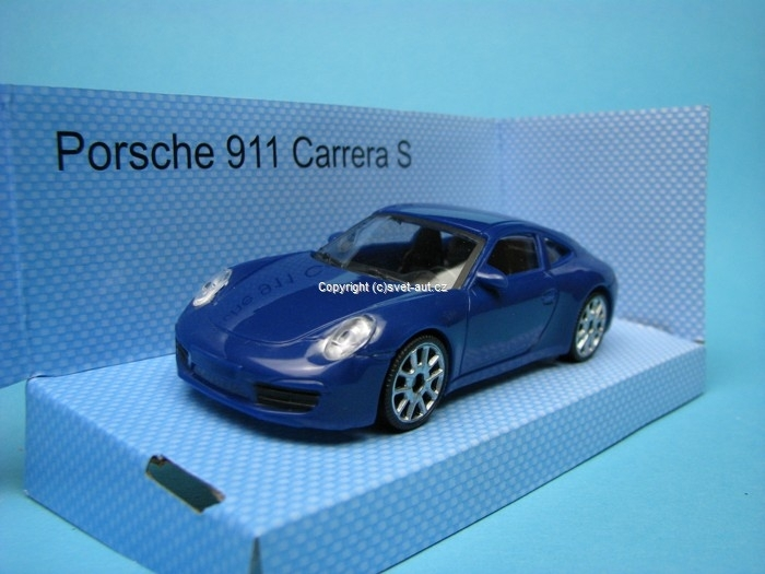 Porsche 911 Carrera S blue 1:43 Mondo Motors Fast Road